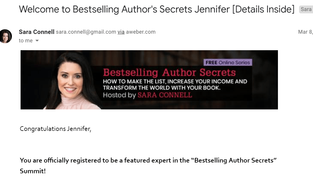Email Marketing Crib Sheet: Bestselling Author Secrets